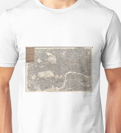 Vintage Map of London England (1899) 2 Unisex T-Shirt