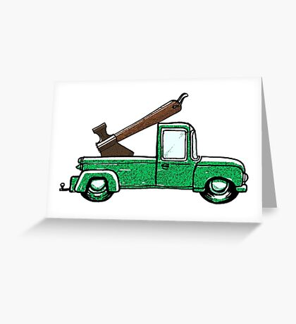 Axe In Truck Greeting Card