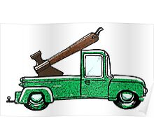 Axe In Truck Poster