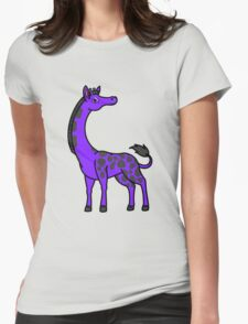 Purple Giraffe with Black Spots Womens Fitted T-Shirt