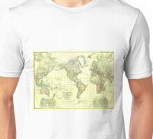 Vintage Map of The World (1922) 2 Unisex T-Shirt