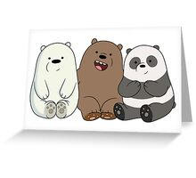 We Bare Bears Greeting Card