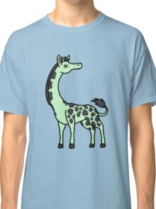 Light Green Giraffe with Black Spots Classic T-Shirt