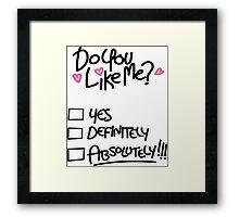 Gravity Falls: Do You Like Me? Framed Print