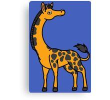 Orange Giraffe with Black Spots Canvas Print