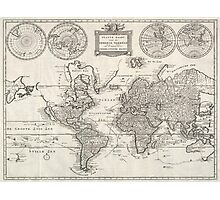 Vintage Map of The World (1786) Photographic Print