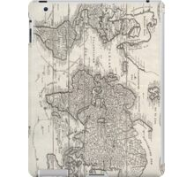 Vintage Map of The World (1786) iPad Case/Skin