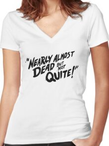 Gravity Falls: Nearly Almost Dead But Not Quite! Women's Fitted V-Neck T-Shirt