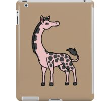 Light Pink Giraffe with Black Spots iPad Case/Skin
