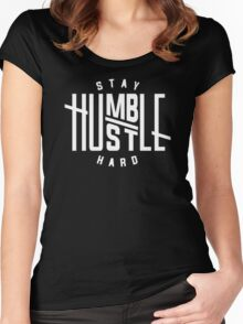 Stay Humble Hustle Hard Women's Fitted Scoop T-Shirt