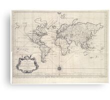 Vintage Map of The World (1750) Metal Print