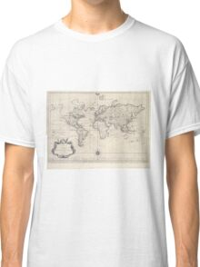 Vintage Map of The World (1750) Classic T-Shirt