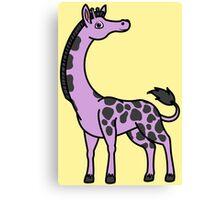 Light Purple Giraffe with Black Spots Canvas Print