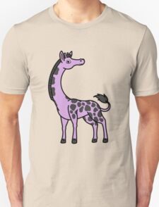 Light Purple Giraffe with Black Spots Unisex T-Shirt