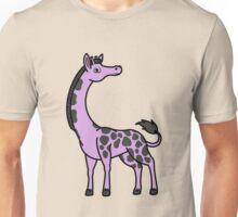 Light Purple Giraffe with Black Spots Unisex T-Shirt