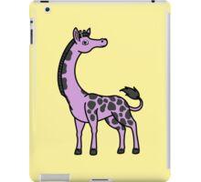 Light Purple Giraffe with Black Spots iPad Case/Skin