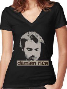 Damien Rice T-Shirt Women's Fitted V-Neck T-Shirt