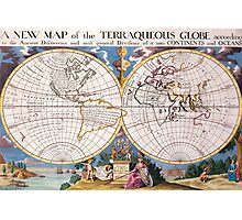 Vintage Map of The World (1700) Photographic Print