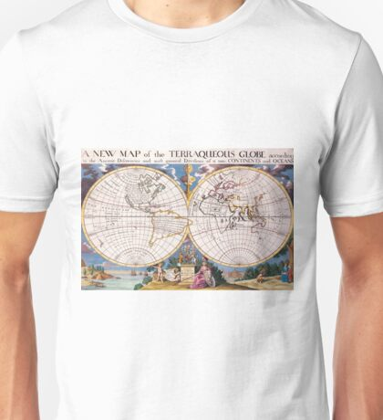 Vintage Map of The World (1700) Unisex T-Shirt