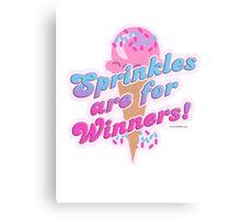 Sprinkles For Winners Canvas Print