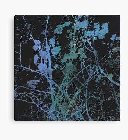blue winter modern abstract painting art design Canvas Print