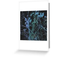 blue winter modern abstract painting art design Greeting Card