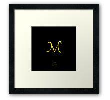 M Golden Alphabet Series Framed Print