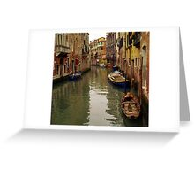 Venice Canel Boats Greeting Card