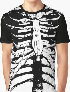 Skeleton Ribs | Black & White Graphic T-Shirt