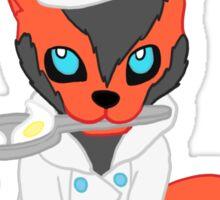 Cooking Fox Sticker