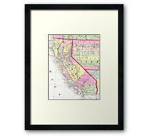 Vintage Map of California (1853) Framed Print