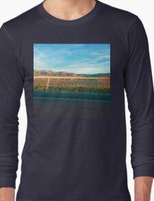 Blue Sky Desert Highway Long Sleeve T-Shirt