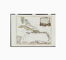 Vintage Map of The Caribbean (1779) Unisex T-Shirt