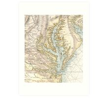 Vintage Map of The Chesapeake Bay (1778) 2 Art Print