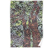 Spring in Tree modern abstract painting art design Poster