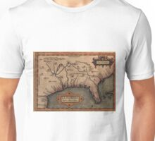Vintage Spanish Map of Florida Discovery (1584) Unisex T-Shirt