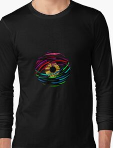 Psychedelic Abstract Colourful 57 Crest Long Sleeve T-Shirt