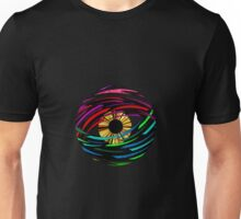 Psychedelic Abstract Colourful 57 Crest Unisex T-Shirt