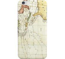 Vintage Christopher Columbus Voyage Map (1828) iPhone Case/Skin