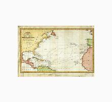Vintage Christopher Columbus Voyage Map (1828) Unisex T-Shirt