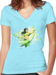 Laura Women's Fitted V-Neck T-Shirt