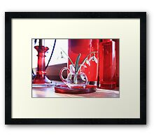 Red Decoration - Macro Photography Framed Print