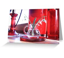 Red Decoration - Macro Photography Greeting Card