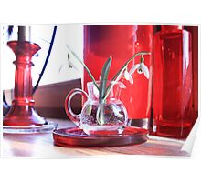 Red Decoration - Macro Photography Poster