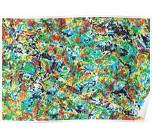 Vibrance cool, trendy modern abstract painting art design Poster