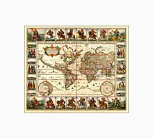 Vintage Map of The World (1652) Unisex T-Shirt