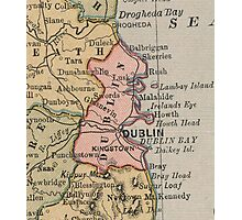 Vintage Map of Dublin Ireland (1883) Photographic Print
