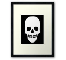 Wasted Skull Smile Framed Print