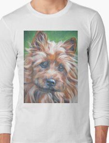 australian Terrier Fine Art Painting Long Sleeve T-Shirt