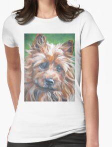 australian Terrier Fine Art Painting Womens Fitted T-Shirt